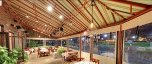 Outdoor Patio Restaurant With Enclosed Siding