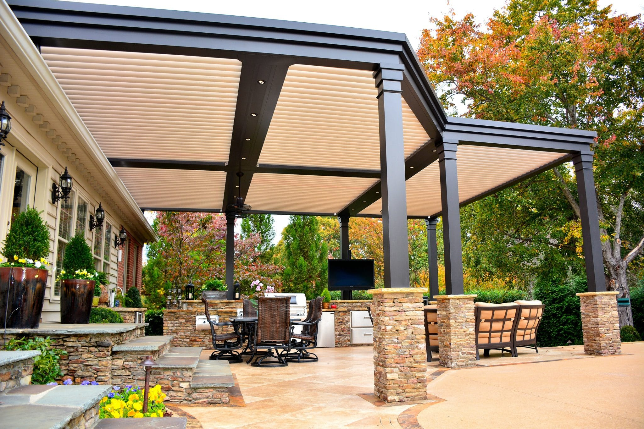 Custom Louvered Roof