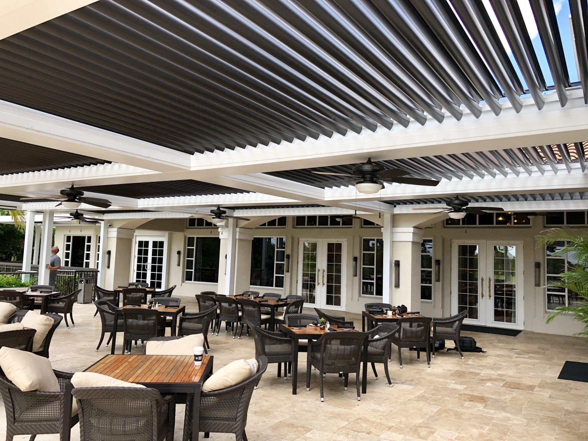 Commercial Louvered Roof
