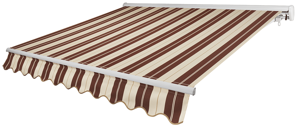 Cabernet Awning with White Frame