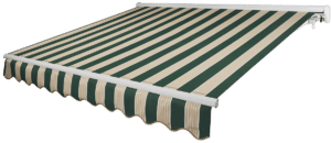 Summer Green Awning with White Frame