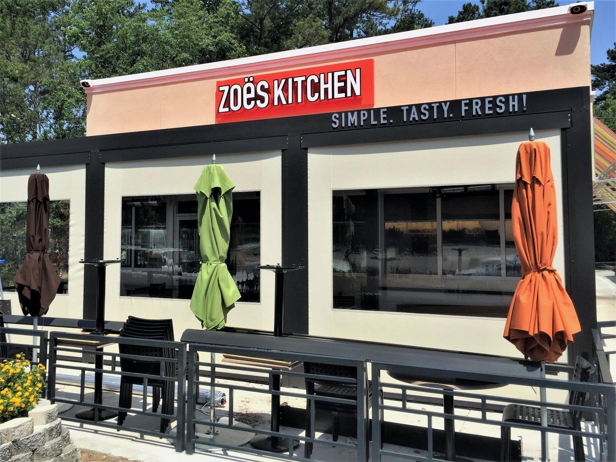 Zoes Kitchen Solar Shades