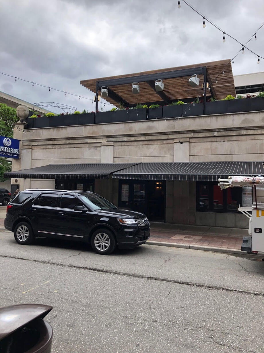 Commercial retractable awnings - Marygrove Awnings