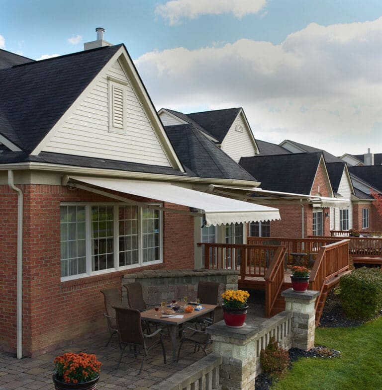 linen outside deck awning - awning color Ohio - Marygrove Awnings