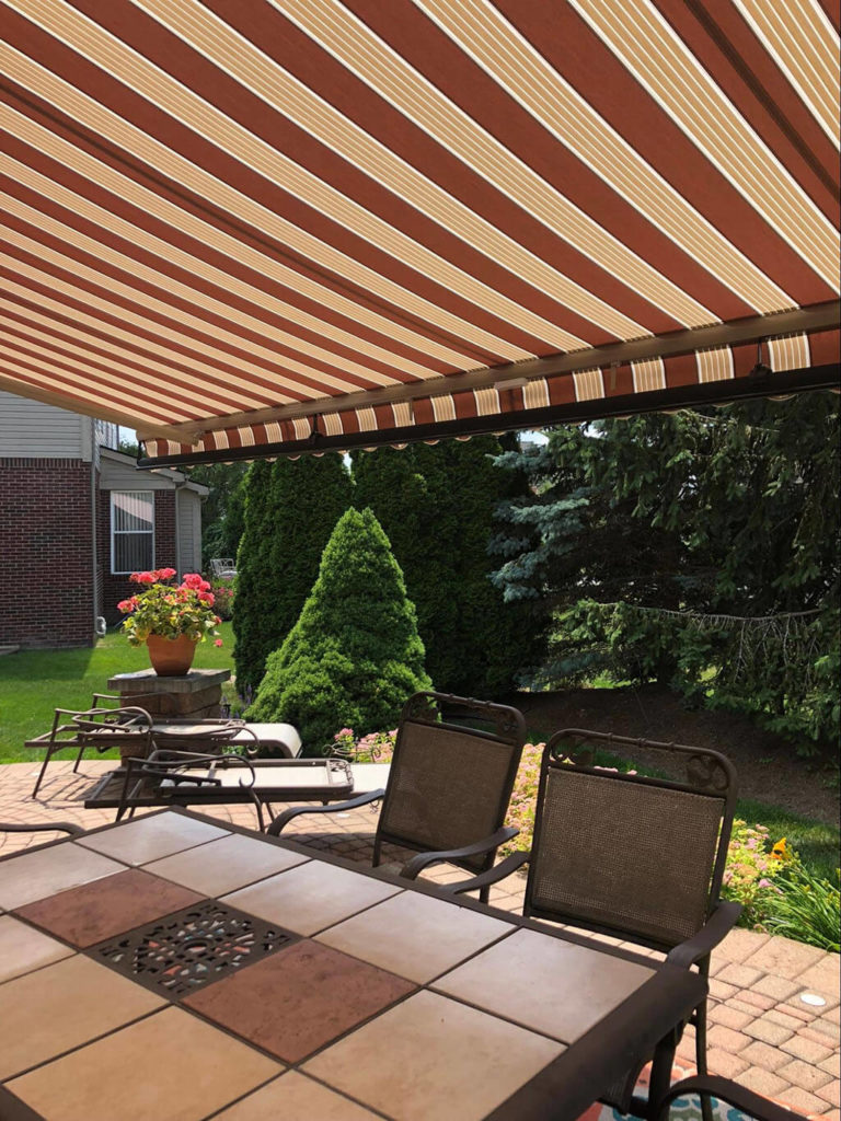 outside deck awning - natural-cabernet - Marygrove Awnings