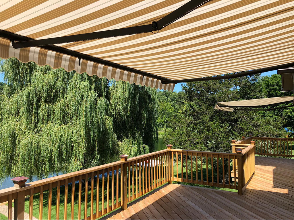 outside deck awning - residential awnings - Marygrove Awnings