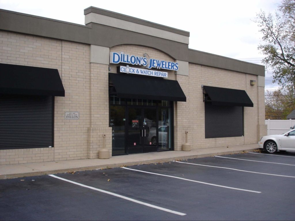 jeweler commercial awning - Marygrove Awnings