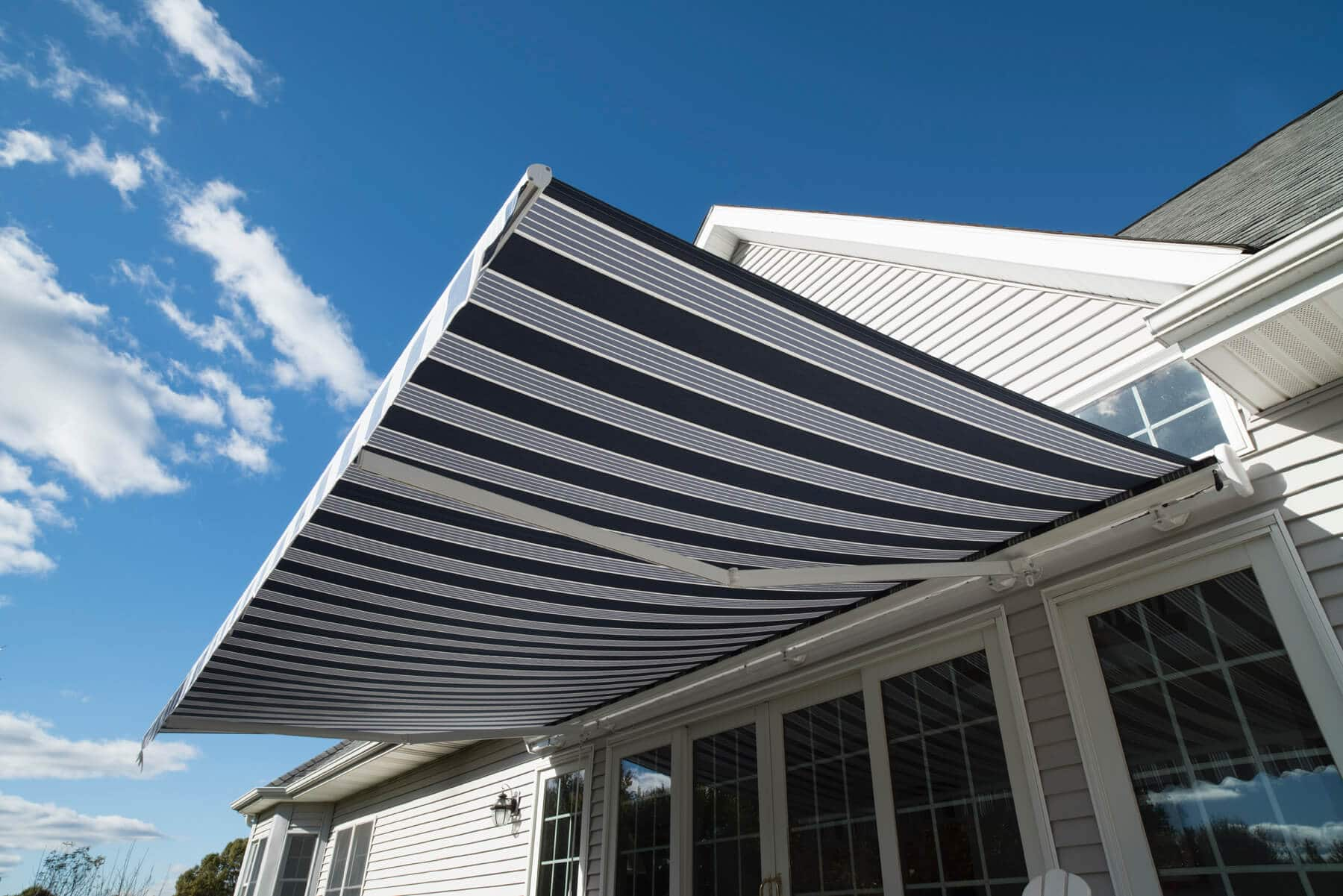 retractable awning on home - Marygrove Awnings