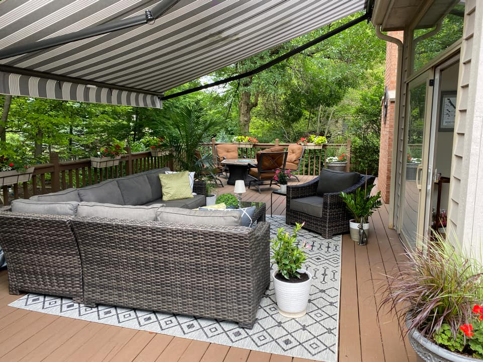 Outdoor Awning with Furniture